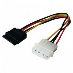 20CM 4-Pin Molex Male to SATA Female Power Cable