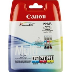 Canon CLI-521 Colour Ink Cartridges Multipack