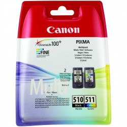 Canon PG-510 Black & CL-511 Ink Cartridges Multipack