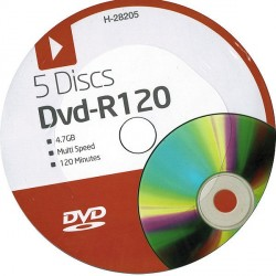 DVD-R120 5 Disc Pack