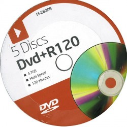 DVD+R120 5 Disc Pack