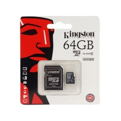 Kingston 64GB SDHC Class 10 Micro-SD Card with Adapter