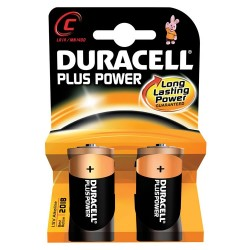2 Pack Duracell Power Plus C Batteries